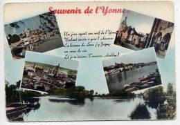 YONNE--Souvenir De L´Yonne--Vues Diverses---Auxerre-Sens-J Oigny-Tonnerre,Avallon--c Psm  10 X 15 éd Collin - France