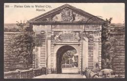 PH34) Manila - Parian Gate To Walled City - 1912 - Filippine