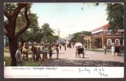 SR40) Ceylon - Colombo - Street Scene, Fort - 1906 - Sri Lanka (Ceylon)