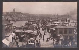 TY7) Constantinople - Le Pont Pris Du Côté De Stamboul - Real Photo Postcard - Turkey