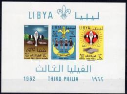 1962, Royaume Libya, Scouts, YT Bloc No. 4 , Neuf **, Voir Scan, Lot 33616 - Scoutisme