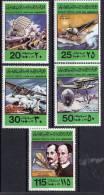 26-12-1978, Jamahiriya Libye - Histoire De L´aviation, Y&T No. 726 - 730, Neuf **, Voir Scan, Lot 33622 - Libia