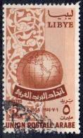 1955, Union Postale Arabe, Y&T  No. 138, Oblitéré, Lot 35151 - Libië