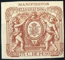 FISCAL  PUERTO RICO  1896-97  Manifiestos 75c. ** - Puerto Rico