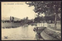 CPA  ANCIENNE- FRANCE- AIX-LES-BAINS (73)- CORNIN- LE TILLET- BERGES AMÉNAGÉES- BARQUE ANIMÉE- - Aix Les Bains