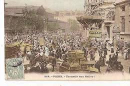 PARIS UN MATIN AUX HALLES (COLORISEE) BELLE ANIMATION REF 21294 - Halles