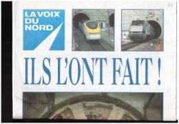 Voix Du Nord   Eurotunnel Tunnel Sous La Manche   Supplement   1995 Calais Douvres  Shuttle - 1950 - Heute