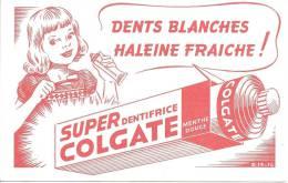 Buvard  Dents Blanches Haleine Fraiche Super Dentifrice Colgate Menthe Douce - Parfums & Beauté