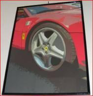 X RED PASSION 1 CARS POP ART STAMPA SU TELA CANVAS ARREDO DESIGN COPIE FIRMATE E NUMERATE CM.  70X100 FERRARI - Stampe