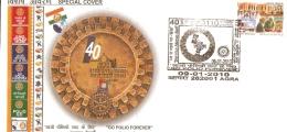 India 2010 ´GO POLIO FOREVER´ Medicine Health Apollo Hospital Flag Special Cover Inde Indien # 18213 - Medicine
