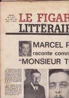LE FIGARO LITTERAIRE DU 6 AU 12 AOUT 1964/ PAGNOL RACONTE TOPAZE/RANGER VII/LE LOUVRE - Kranten