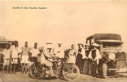 Afrique - Africa -soudan -ref A50- Arrivee A Juba- Soudan Anglais - Plan Camions - Moto -theme Motos -transports - - Sudan