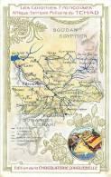 afrique - africa -tchad -ref A44-carte geographique -edition de la chocolaterie d aiguebelle  - carte bon etat  -