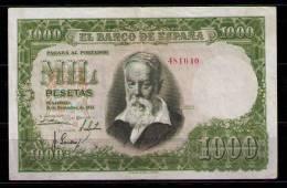BILLETE DE 1000 PESETAS DE 1951 - JOAQUIN SOROLLA - MUY BONITO - SIN SERIE - [ 3] 1936-1975: Regime Van Franco