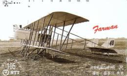JAPON JAPAN AVION PLANE BIPLAN FARMAN 105U UT - Airplanes