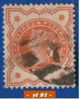 1887-1900 - Europe - Grande-Bretagne - Reine Victoria - 0.5 P. Rouge - - Used Stamps