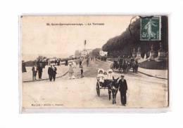 78 ST GERMAIN EN LAYE Chateau, Terrasses, Bien Animée, Attelage, Ed Abeille 39, 1908 *** ETAT *** - St. Germain En Laye (Château)