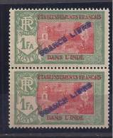 FrenchIndia1941-3:FRANCE LIBRE Yvert141 Mnh** - India (1892-1954)