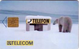 REPUBLIQUE TCHEQUE OURS BLANC WHITE BEAR   UT - Télécartes