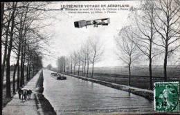 H. FARMAN SE REND AU CAMP DE CHALONS A REIMS - PENICHE HALEE PAR UN CHEVAL - Aviateurs