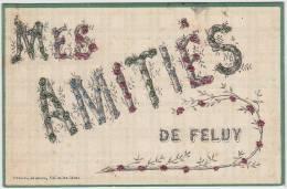 17109g FELUY - Amitiés - 1906 - Paillettes - Seneffe