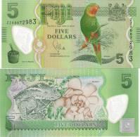 Fiji 5 Dollars 2012. UNC REPLACEMENT Polymer Birds Fauna - Fidji