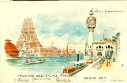 Exposition Lefèvre-Utile Paris 1900 Grand Prix - Carte Transparente - Controluce
