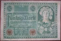 50 Mark 1920 (WPM 68) 23.7.1920 - [ 3] 1918-1933 : República De Weimar