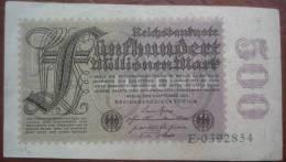 500 Millionen Mark 1923 (WPM 110a / Rosenberg 109a) - 500 000 000 - [ 3] 1918-1933 : Weimar Republic