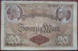 20 Mark 1914 (WPM 48b) 5.8.1914 Darlehenskassenschein - 20 Mark