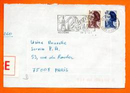 47 VENDOME           19  / 5  / 1987    Devant De Lettre    N° E 92 - Mechanische Stempels (reclame)