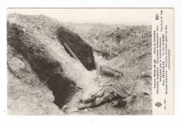 CPA 80 - Offensive Anglaise Tranchées Allemandes Bouleversées Par Le Bombardement - Cadavre ( ? ) - Guerre 1914-18