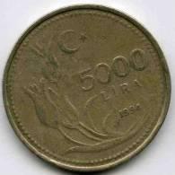 Turquie Turkey 5000 Lira 1994 KM 1025 - Turquie