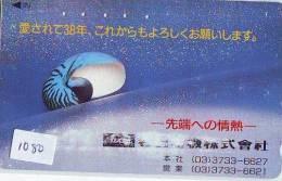 Telecarte Japon Coquillage (1080) Sea Shell * JAPAN * Muschel Seashell Muszle  FOSSILE * FOSSIL * Conchiglia - Télécartes