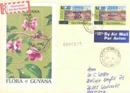 Gyana - Omslag Reg.air  Georgetown 1993 (RM0074) - Orchidées
