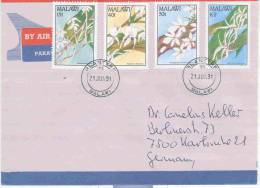 Malawi - Omslag  Blantyre 1991 (RM0100) - Orchidées