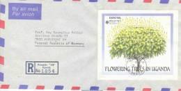Uganda - Omslag Reco Air Mail - Kampala 1990 (RM0142) - Arbres