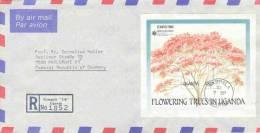 Uganda - Omslag Reco Air Mail - Kampala 1990 (RM0143) - Arbres