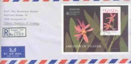 Uganda -  Omslag Reco - Kampala 1990 (RM0149) - Orchidées