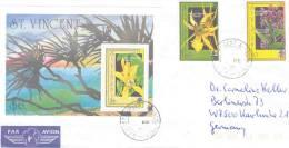 St. Vincent - Omslag  By Air Mail  1991 (RM0194) - Orchidées