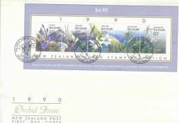 New Zealand FDC 1990  (RM0263) - Orchidées