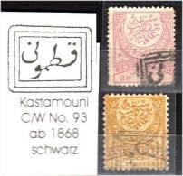TURKEY , EARLY OTTOMAN SPECIALIZED FOR SPECIALIST, SEE... Postmark - 1868 - Kastamoni - C/W No. 93 - 1858-1921 Empire Ottoman