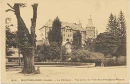 Alte AK Montbeliard Vor 1945, Le Chateau, Vue Prise De L'Avenue President-Wilson - Montbéliard