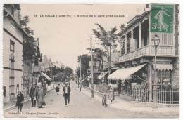 18 Avenue De La Gare Prise Du Quai , Collection F Chapeau , Nantes - 2 ° Mille , écrite En 1916 - La Baule-Escoublac