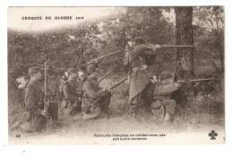 CPA : Patrouille Française En Contact Avec Une Patrouille Ennemie ( Lieu à Préciser ( Sûrement Une Reconstitution ) - Guerre 1914-18