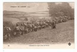 CPA : 51 - Reims : Infanterie En Ligne Près De Reims - Guerre 1914-18