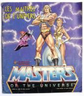 RARE ALBUM PANINI LES MAITRES DE L�UNIVERS 1984 INCOMPLET (manque pages centrales) en Fran�ais