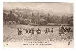 CPA : Infanterie Française - Une Charge à La Baïonnette - Tampon : Maroc Oriental - Guerre 1914-18