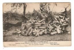 "CPA :80 - Offensive Franco / Anglaise Vue Arrière Batterie "" Boche"" Site Of German Battery - Guerre 1914-18"