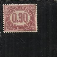 ITALIA REGNO 1875 CIFRE CENT.30 MNH BEN CENTRATO - Servizi